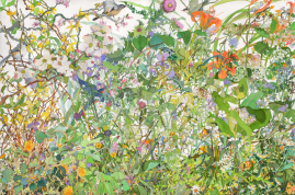 "Spring 2012. Watercolor, 40"" x 60"". 2012."